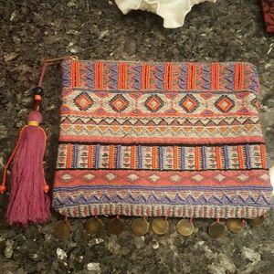 Clutch Beaded Boho Handbag Merona